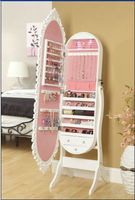 BEST dressing mirror+MDF wood bedroom jewelry cabinet
