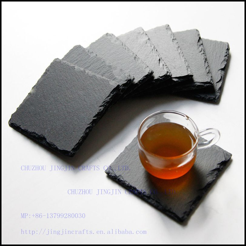 seasonal promotional cheap black natural slate coaster