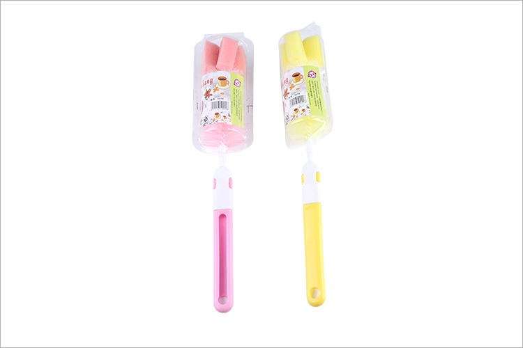Adorable long kitchen water bottle cleaning brush with plastic good quality material