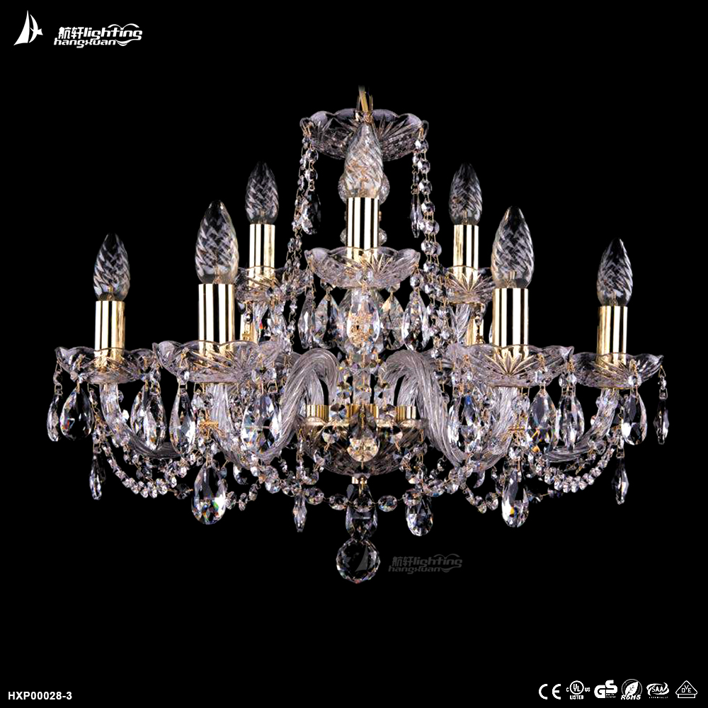 Energy Saving big modern k9 crystal celling chandelier lamp #HXP00028-3