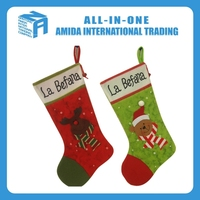 2015 High quality creative 18-inch popular custom Christmas stocking