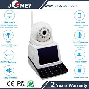Two way Audio Intelligent Wireless wifi video phone camera with LCD monitor