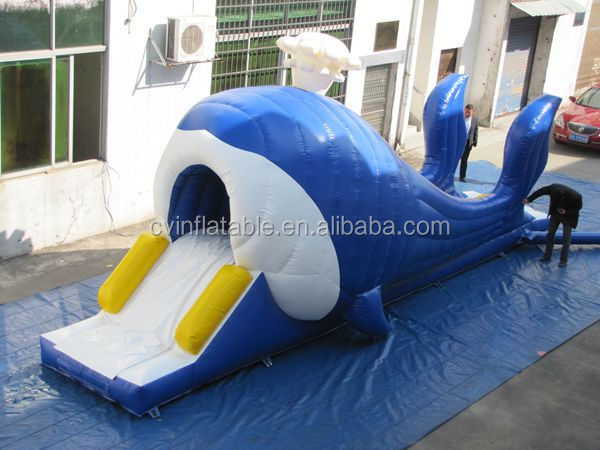 inflatable Whales slide , whale inflatable water slide n slip,whale inflatable water slide