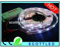 Epistar 5050 smd led (taiwan chip); ws2811 flexible led lighting 12v;programmable led strip 5050 rgb ip68