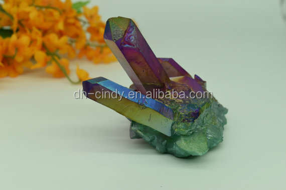 Wholesale Multi Colored Angel Aura Cluster <strong>crystal</strong> healing spiritual awakening