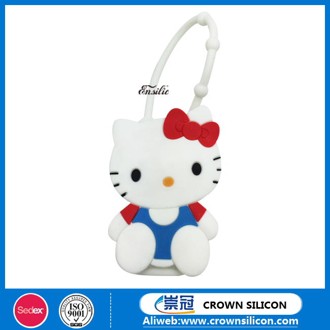 Disney authorized manufacturerSEDEX and ISO hello kitty bath body works antibacterial silicone hand sanitizer holder