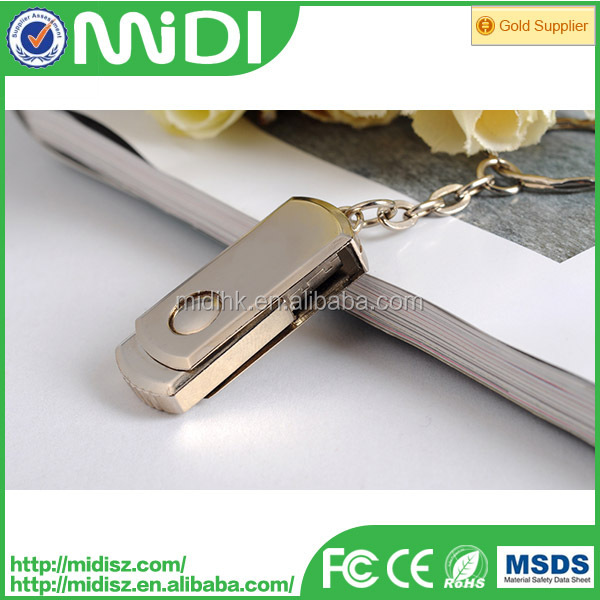 Swivel usb flash drive,metal memory flash usb 32gb
