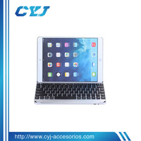 Ultra Slim Aluminum Base for ipad rubber bluetooth keyboard for iPad from guangzhou