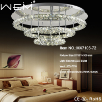 high quality 72W modern led crystal ceiling lamp with UL CUL standard