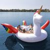 Big 6 person Inflatable Unicorn Pool Toy Water Raft Lounge/ Unicorn Inflatable Floating Island