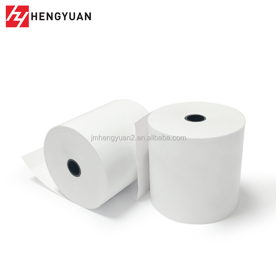 "White Single-Ply Paper Roll 3 1/8""(W) x 230'(L) 50/Ctn Cash Receipt Paper Roll"