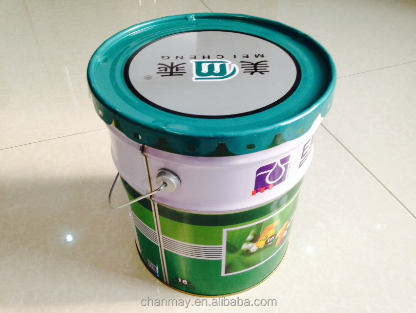 5 Gallon metal pail with steel handle for paint, coating or other chemical products
