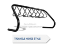hanging hat for parking 7 bikes slot bike rack triangle hinge