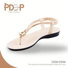 Custom color beautiful tong style korea sandals