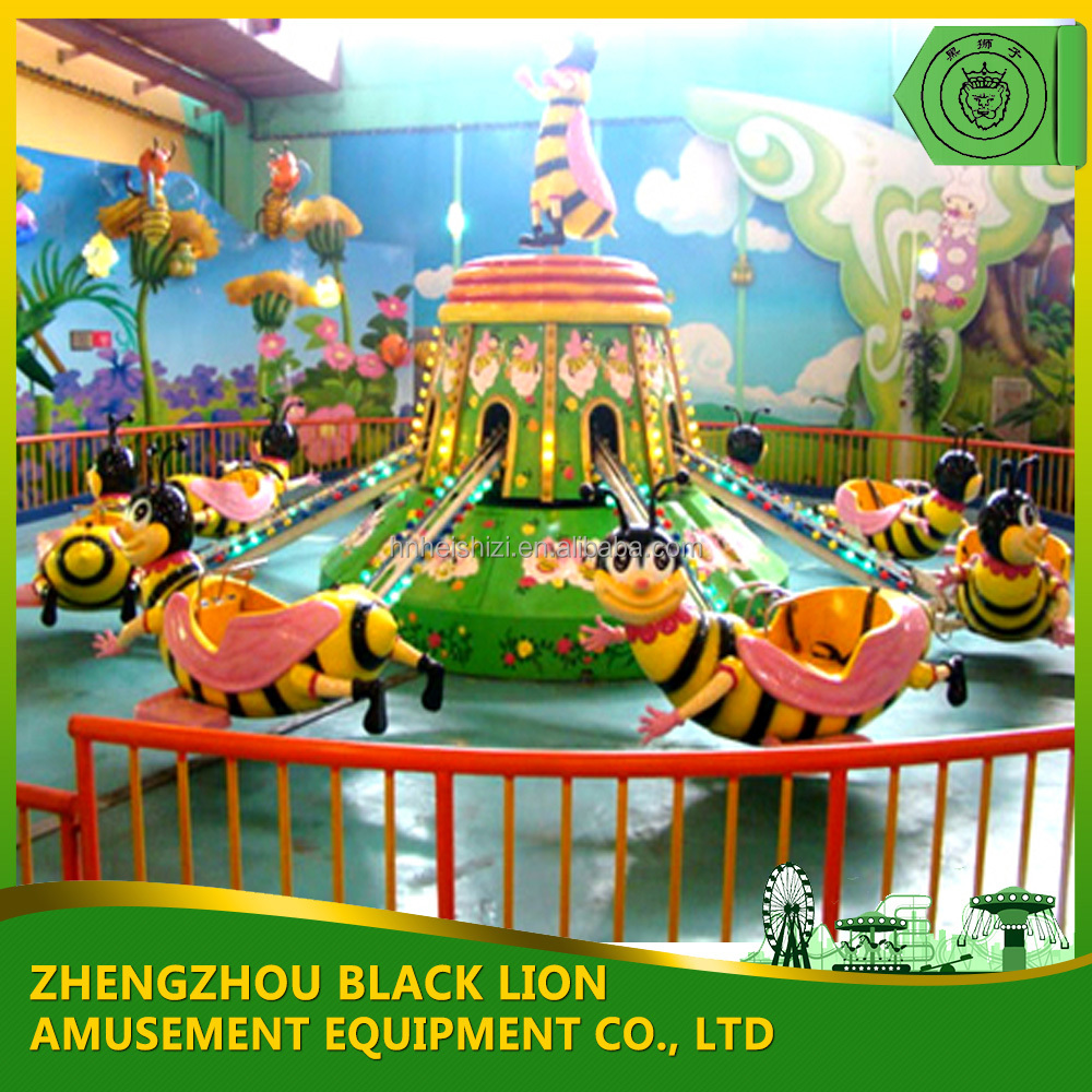 Best Funny For Shopping Mall ! Amusement Small Rides Rotary Small Self Control Bees
