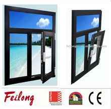Aluminum double glazed tilt and turn windows with fly screen slide way comply to AS2047