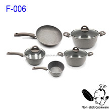 2016 Hot Marble Stone Coated Ceramic Cookware Set