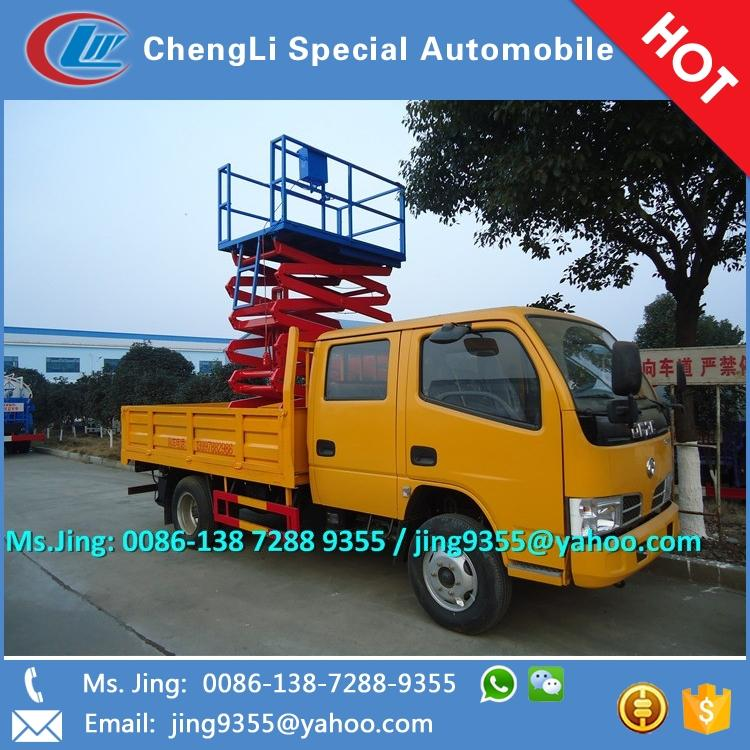 2016 NEW Euro IV DFAC 3300 light cargo truck with 8-10m aerial work platform for sale