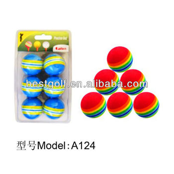 A 124 foam ball,dimple ball,floating golf ball,golf practice ball