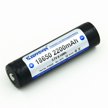 P1822K KeepPower batteries rechargeable li-ion 2200mah 18650 battery