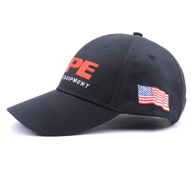 High Quality High Crown 100% Cotton 6 Panel American Flag Embroidered Baseball Caps Custom