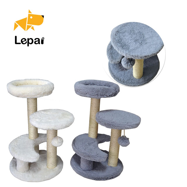 Portable tree with ball pet product cat scratch post for playing