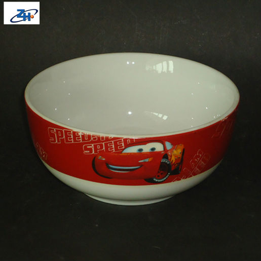 ZH5-0215 zhonghao soup bowl race car bowl ceramic bowl with a car