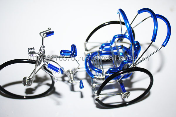 Wire Art Handmade Mini model 3 wheel bicycle - Made in Thailand