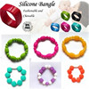 Silicone Bead bracelet -- baby, mother, teething, food grade, waterproof, nursing, rubber