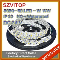 SV 24v 5050 SMD RGBW LED Strip no-Waterproof IP20 Lights warm whhite+white Mixed Color LED Strip Lighting 5M 300LEDs