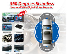 Extra pair of eyes: 4 channel system 360 degrees bird view car DVR