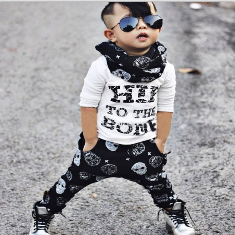 Free Shipping Spring Autumn Baby Clothes O-Neck White Newborn Clothing Sets Fashion Kids Suits Shirt+Pants 0-3 Years