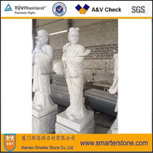 Chinese Story <the Eight Immortals (in the legend)> Granite Statue Sculpture -- Ho-Hsien-Ku