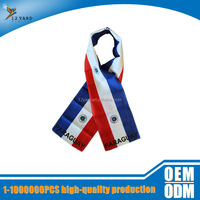 customized sublimation printed paraguay thanksgiving days scarf &women and men neck square scarf