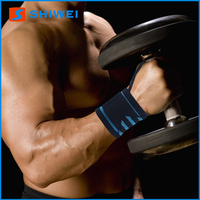 Durable SHIWEI-624# weightlifting wrist wraps velcro wrist bands in stock