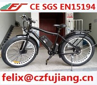 "new 26""x 4.0 fat tire electrc bike riding on the beach bike or on the snow aluminum alloy frame li-ion battery"