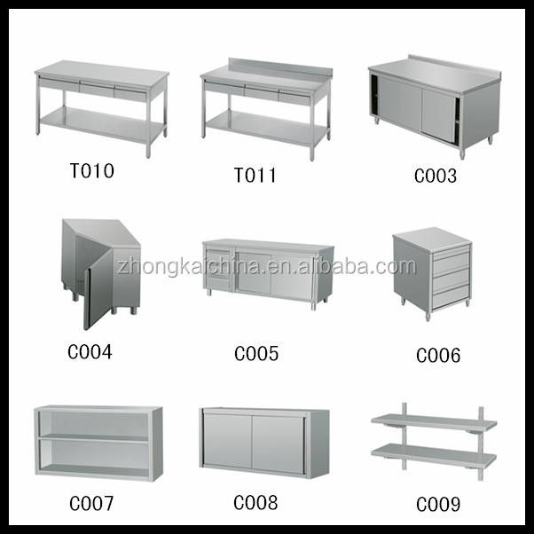 Restaurant Kitchen Work Tables restaurant hotel commercial kitchen 2 layers stainless steel