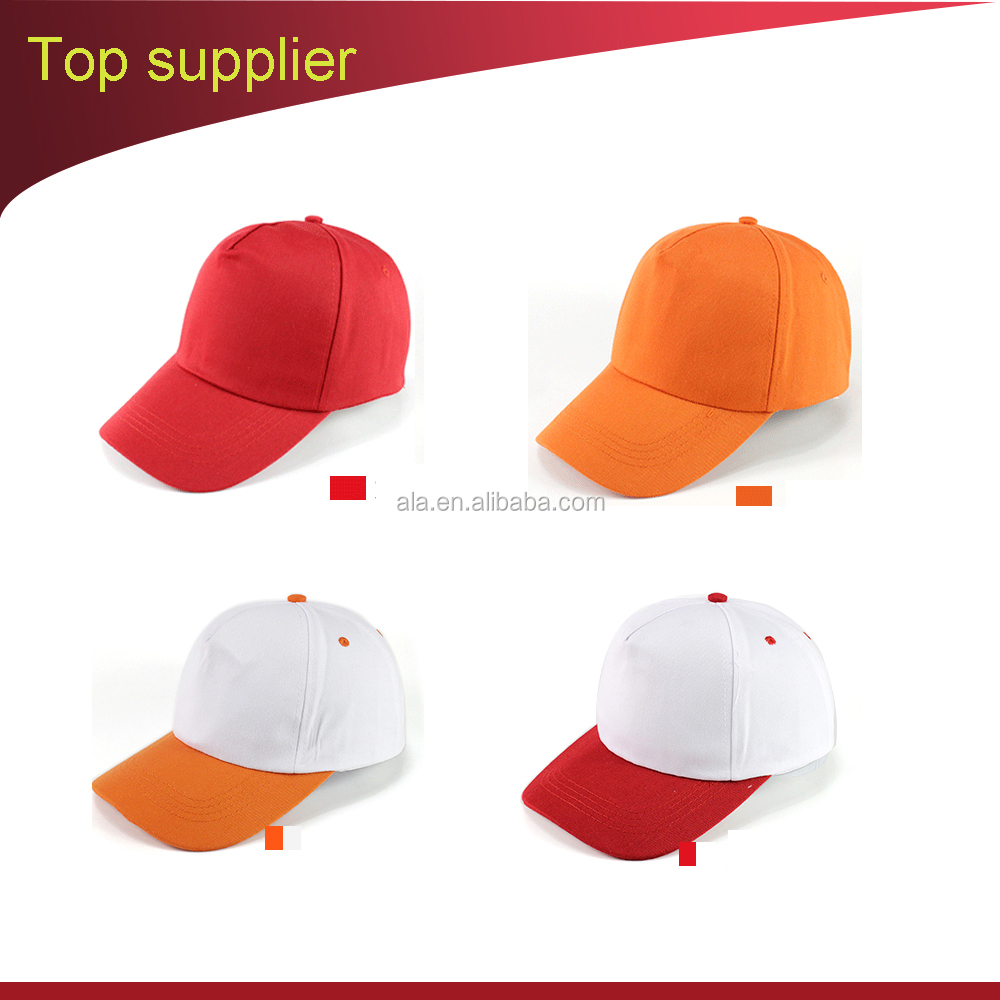 School students OEM peaked cap embroider logo caps for kids