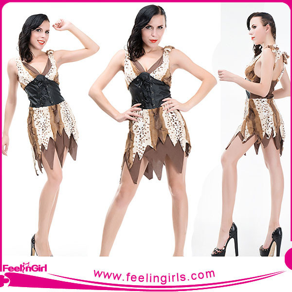 Sexy One Piece Cave Girl Halloween Costume