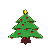 Christmas Tree Decorate X'mas Sew Iron on patches for letterman jackets