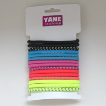New hot sale design ponytail hair ties reflector material hair elastic band