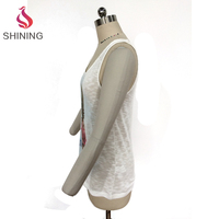 Fashion Pomegranate pattern Breathable white tank tops for woman
