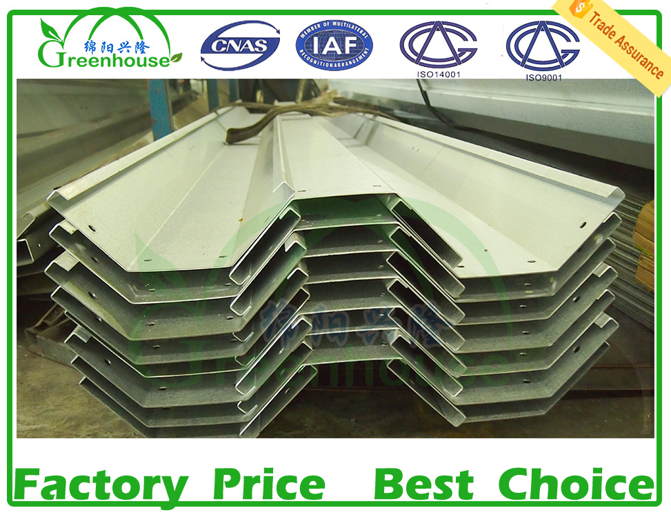 Greenhouse Gutter for Poly carbonate Sheet Greenhouse
