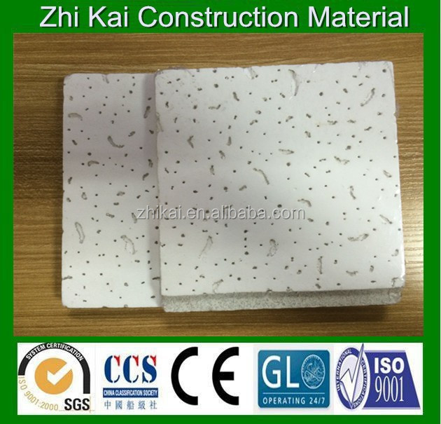 12mm white mineral fiber ceiling tiles mineral wool square board