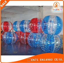 Popular Colourful football inflatable body zorb ball / bumper football for sale