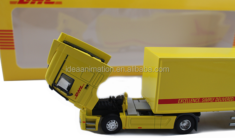 1:50 diecast container truck toy DHL express model truck give away customer gifts