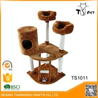 Pet Toys Type And Eco-Friendly Feature Cat Trees With Toys