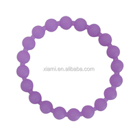 hot sale nature material pure color purple pearl shape the silicone bracelet
