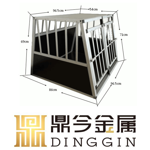 Luxury aluminum dog cage