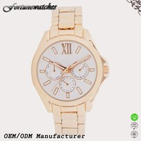 2016 New roles watches men gold stainless steel watch for man